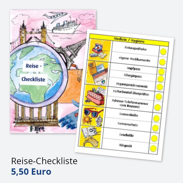Reise-Checkliste - 5,50 Euro
